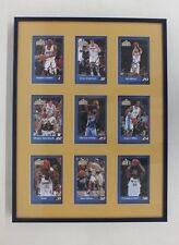 9 Framed 2003 Denver Nuggets Autographed Player Cards Camby Miller J. Barry Nene