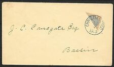 Danish West Indies covers 1903 YV 7a BISECTED cover to Bassin
