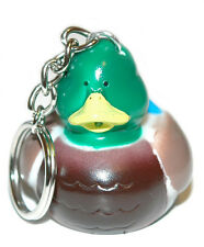 ADORABLE MALLARD DUCK RUBBER DUCK KEY CHAIN (KC059)