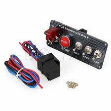12V Ignition Switch Panel Engine Start Push Button LED Toggle Fit for Racing Car