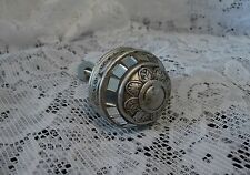 Antique Pewter Round Resin Knob with Mirrors Drawer Pull Knob ~ Dresser Cabinet