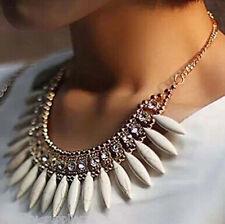 Hot Women Crystal Pendant Chain Choker Chunky Statement Bib Fashion Necklace New