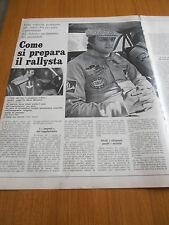1973 COME SI PREPARA IL RALLYSTA RALLY LAVORO PRELIMINARE GARA PREPARAZIONE