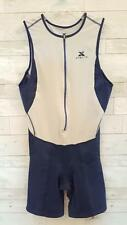 XTERRA Men's Triathlon Wetsuit Sleeveless Short Navy Gray 1/2 Zip Size LARGE