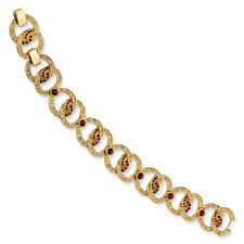 "Gold-Plated Jackie Kennedy Circles Bracelet Swarovski Elements Bracelet 7.25""+1"""