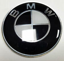 45mm Fits BMW BLACK Steering Wheel Sticker Badge Emblem 1 2 3 4 5