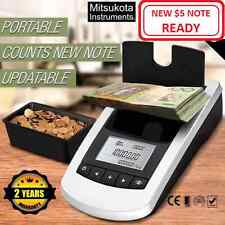 NEW Portable Digital Coin Note Sorter Money Counter Jewellery Scales Australian