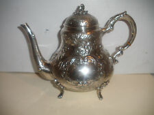 Antique  American sterling silver 925 floral repousse teapot heavy 965 gr