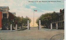 Early 1900's The Entrance to Ft. Sam Houston in San Antonio, TX Texas PC