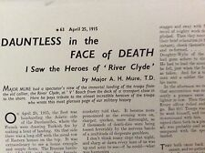m10-9a ephemera ww1 1938 article major a h moore heroes of river clyde dardenele