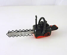 Dollhouse Miniature Red & Black Metal Chainsaw, G8603