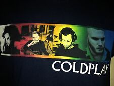 VINTAGE COLDPLAY TWISTED LOGIC TOUR 2005 SMALL T SHIRT OUT OF PRINT ROCK