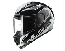 LS2 Arrow Geo SportBike Full-Face Black White Helmet Tri-Composite DOT ECE LARGE