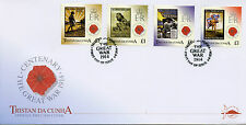 Tristan da Cunha 2014 FDC WWI Posters Great War Centenary 4v Set Cover Stamps