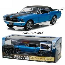 "Greenlight 12965 1967 Ford Mustang Coupe ""Ski Country Special"" Vail Blue 1:18"