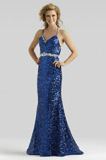 1187 CLARISSE 2358 SZ 6 $230 ROYAL BLUE  FORMAL PAGEANT PROM GOWN DRESS