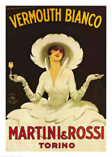 "MARTINI & ROSSI VERMOUTH BIANCO POSTER BY MARCELLO DUDOVICH -LARGE 24""X36"" - NEW"