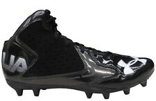 Under Armour NFL Men's Fierce Phantom Mid MC Football Cleats Shoes Black 10.5