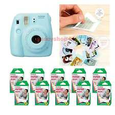 Fujifilm Fuji Instax Mini 8 Instant Polaroid Camera Blue + 100 Film Photo shot
