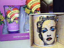 MADONNA CELEBRATION MUG & TATTOO SHOWER GEL & EAU DE TOILETTE PERFUME SET