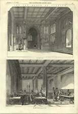 1855 New House Of Commons Smoking Room Division Lobby