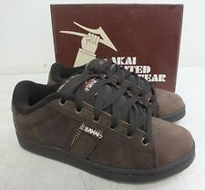 Lakai Limited 'Relay' Brown Leather Skateboard Shoes w/Gum Soles NEW US 6/38.5