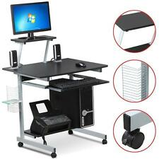 New MDF Computer Desk PC Laptop Table Office Home Office Work Station Black