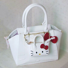 HelloKitty Messenger Cross-body Handbag Tote Shoulder Bag 2017 New Pu Bow White