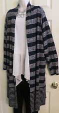 NEW Flowy Long Duster Open Front Jacket Top by Lane Bryant Plus 26/28 (3X/4X)