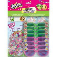 SHOPKINS FAVOR PACK (48pc) ~ Birthday Party Supplies Toys Kooky Cookie Spin Tops