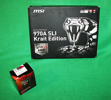 MSI 970A SLI KRAIT EDITION AM3+ & AMD 8320e PROCESSOR & MOTHERBOARD COMBO KIT