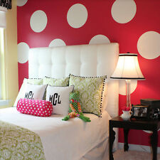 Wall Decal Circle Set Small 6 Piece Girly Room Damask Geometric Bedroom M1456