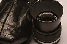 Olympus Zuiko 100mm F/2.8 MC Lens with hood sharp lens!