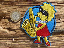 ECUSSON PATCH toppa aufnaher THERMOCOLLANT LES SIMPSONS lisa saxophone musique