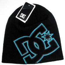MENS DC SHOES HAT BLACK BEANIE CAP ONE SIZE
