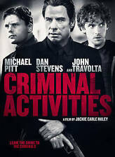 CRIMINAL ACTIVITIES (DVD 2016) BRAND NEW~ JOHN TRAVOLTA & MICHAEL PITT STAR~