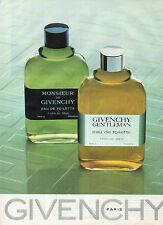 Publicité Advertising 1984  Parfum  pour homme  eau de toilette