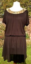 BIBA black And Gold Sequin Dress Size 12 Cocktail Evening Party