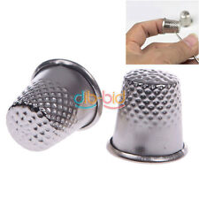 hot 18mm Finger Thimbles Metal Shield Sewing Grip Shield Craf Protector Needle