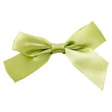 x100 Sage Green Twist Tie Bows 3 inch st patricks day cake pop decoration fasten