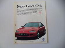 advertising Pubblicità 1992 HONDA CIVIC