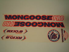 Mongoose PRO RX 10.9 Titanium Stickers Blue, Orange & White.