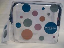 BCBG Cosmetic Make-up Bag NEW Zipper Transparent Clear w/Free Pouch Max Azria