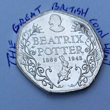 Circulated 2016 150th Anniversary 50p Coin Beatrix Potter Commemorative