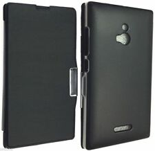 Nokia XL Dual SIM RM 1030 1042 LEATHER CASE LUXURY POUCH COVER SKIN BACK WALLET