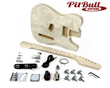 Pit Bull Guitars TL-1Q Electric Guitar Kit (Quilted Maple)