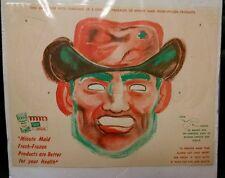 Vintage Minute Maid Advertising Paper Mask, 1960's Unused!