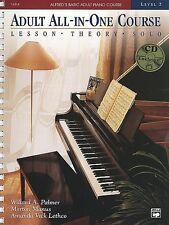 ALFRED ADULT ALL-IN-ONE PIANO COURSE LESSON/THEORY/SOLO LVL 1 MUSIC BOOK-CD NEW!
