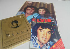 1977 Elvis Presley Concert Photo Album Collection in Gold Foil box and Letter
