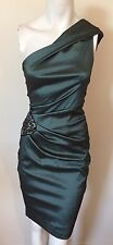 XSCAPE Designer Dress Size 10 Medium M Green Formal Bodycon 8 !